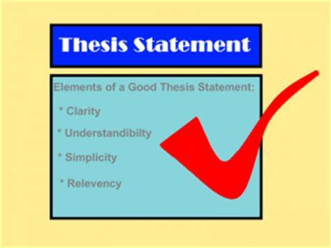 Define term thesis statement
